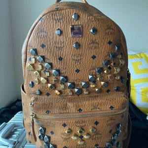 MCM tan backpack